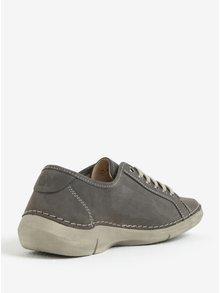 Pantofi sport gri din piele pentru femei Weinbrenner