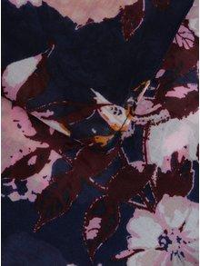 Ružovo-modrá kvetovaná tunelová šatka Pieces Gista