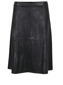 Černá koženková sukně Yest
