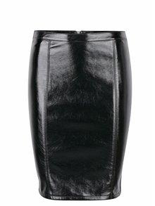 Černá koženková pouzdrová sukně ONLY Ann