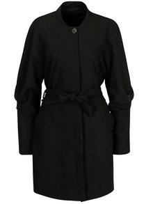 Čierny tenký kabát VEOR MODA Lexis