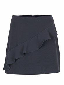 Tmavomodrá sukňa s volánom VILA Nadja