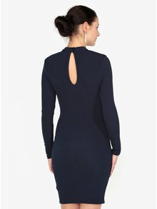Tmavomodré šaty s prestrihmi Paris