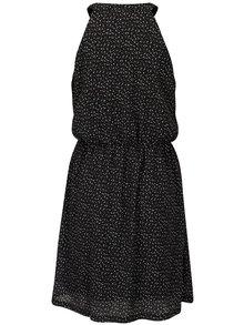 Rochie neagra cu print si funda pe decolteu - Smashed Lemon