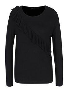 Černý svetr s volánem ONLY Mila