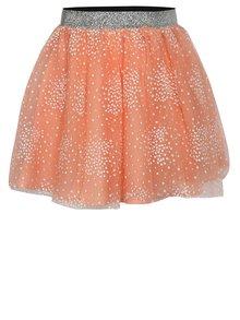 Oranžová dievčenská sukňa name it Kellow