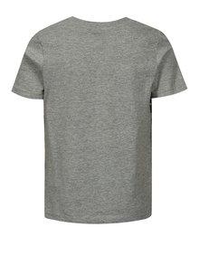 Šedé žíhané klučičí tričko s potiskem LIMITED by name it Noam
