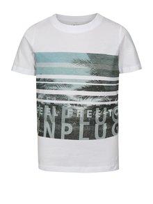 Biele chlapčenské tričko s potlačou LIMITED by name it Noam