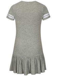 Sivé melírované dievčenské šaty s krátkym rukávom LIMITED by name it Sonja