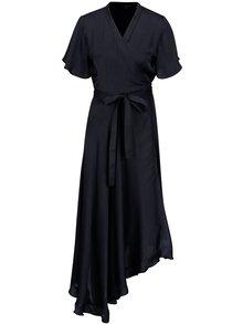 Tmavomodré asymetrické zavinovacie šaty VERO MODA Alanna