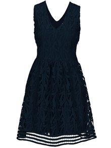 Tmavomodré čipkované šaty VERO MODA New Exclusive