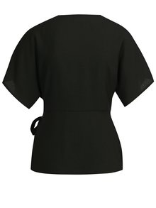 Bluza neagra cu croi suprapus VILA Shadina
