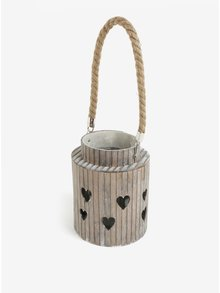 Hnědá bambusová lucerna Dakls