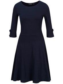 Tmavomodré šaty s 3/4 rukávom Dorothy Perkins Tall