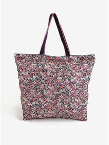 Čierno-ružová dámska kvetovaná taška Cath Kidston