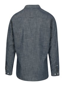 Tmavě modrá žíhaná slim fit košile Jack & Jones Ibiza