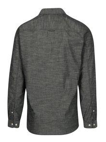 Tmavosivá melírovaná slim fit košeľa Jack & Jones Ibiza