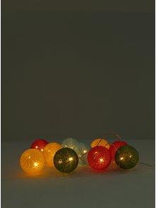 LED dekorácia v žltej a ružovej farbe Kaemingk