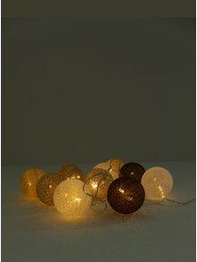 LED dekorácia v hnedej a sivej farbe Kaemingk
