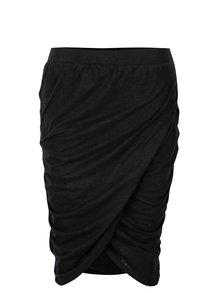 Černá sukně s řasením na bocích Noisy May New Ola