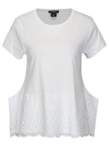 Biele tričko s madeirou DKNY