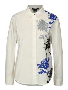 Krémová košile s květovaným potiskem DKNY