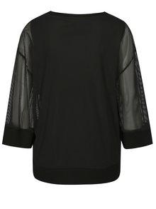 Bluza lejera neagra cu model in dungi DKNY