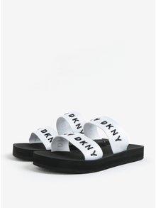 Čierno-biele šľapky DKNY Millie