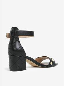 Čierne kožené sandálky DKNY Henli