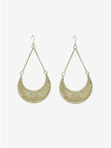 Cercei lungi aurii in stil oriental - Pieces Ingrid