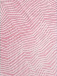 Krémovo-ružová vzorovaná šatka Pieces Guinevere