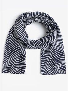 Krémovo-modrý vzorovaný šátek Pieces Guinevere