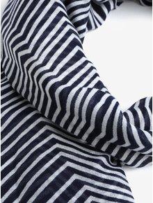 Krémovo-modrá vzorovaná šatka Pieces Guinevere