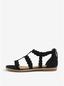 Sandale negre din piele intoarsa -  s.Oliver