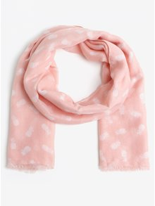 Růžový vzorovaný šátek Pieces Dharma
