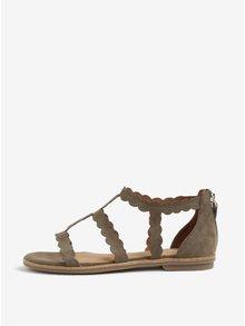 Sandale kaki din piele intoarsa - s.Oliver
