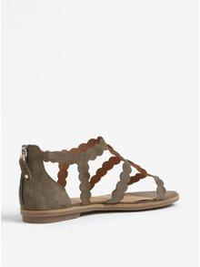Kaki semišové sandále s.Oliver