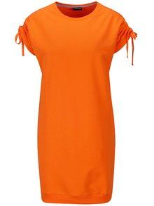 Oranžové mikinové šaty s krátkým rukávem Noisy May Lily