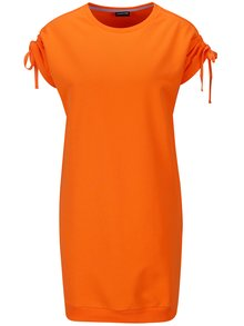 Oranžové mikinové šaty s krátkym rukávom Noisy May Lily
