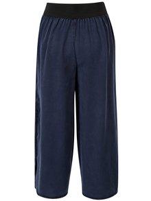 Pantaloni culottes bleumarin cu slituri laterale - VILA Joannes