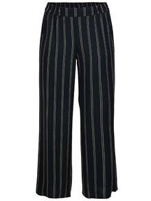 Tmavomodré pruhované voľné nohavice Ulla Popken