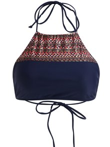 Sutien halter bleumarin de baie cu motive etnice - Pieces Ioana