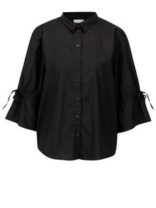 Čierna oversize košeľa s 3/4 rukávom Jacqueline de Yong Cady