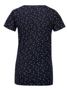 Tmavomodré vzorované tričko Jacqueline de Yong Cassandra