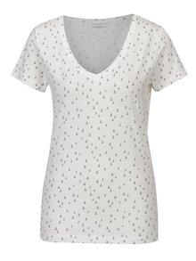 Tricou alb cu print ancore Jacqueline de Yong Cassandra