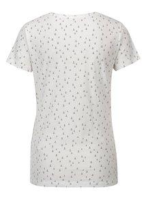 Biele vzorované tričko Jacqueline de Yong Cassandra