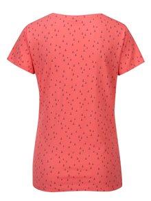 Koralové vzorované tričko Jacqueline de Yong Cassandra