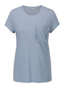Světle modré tričko s kapsou Jacqueline de Yong Calm