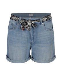 Pantaloni scurti din denim bleu cu cordon ONLY Dana