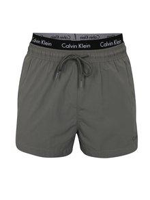 Šedé pánské plavky s gumou v pase Calvin Klein